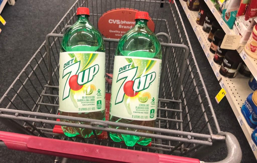 7UP 2L in CVS cart