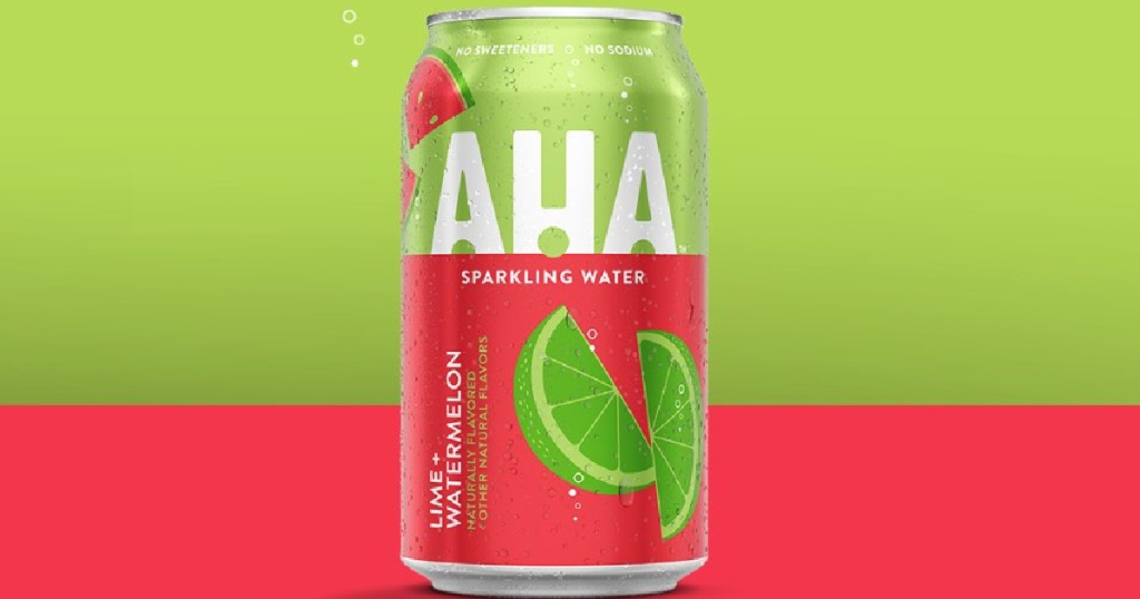 AHA Sparkling Water Lime + Watermelon