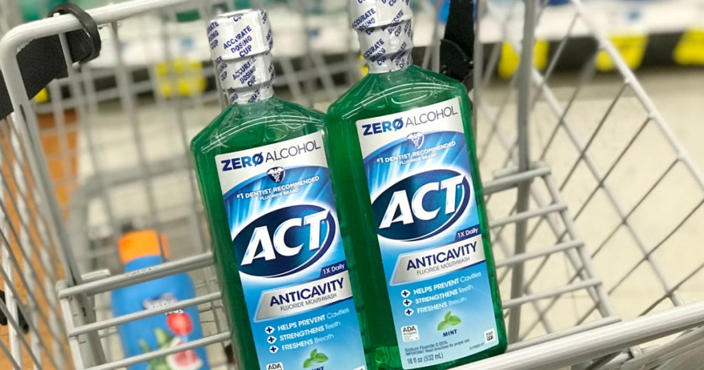 Act mouthwash in shopping cart