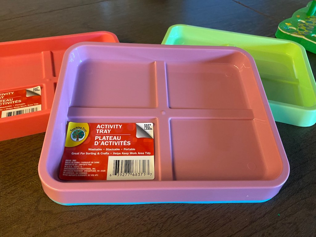 Activity Trays in different colors