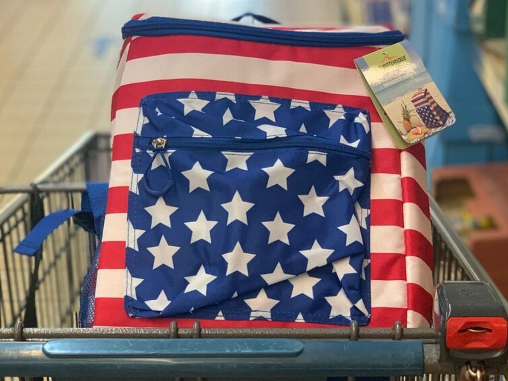 cooler backpack in shopping cart