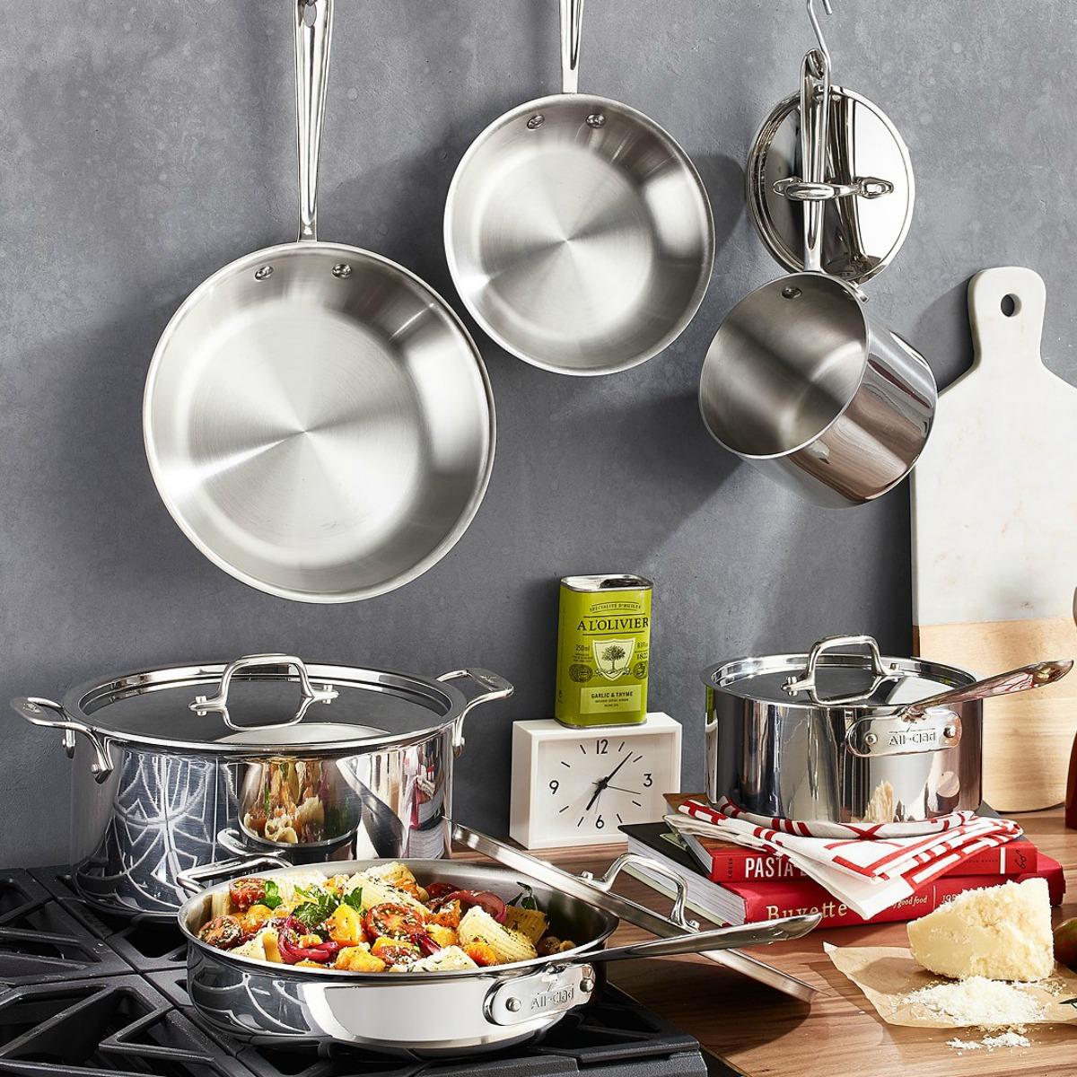 Large kitchen pan set