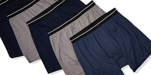 Amazon Essentials Men's 5-Pack Knit Boxers Just $9.50