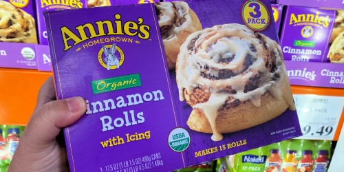 Annie's Organic Cinnamon Rolls w/ Icing 15-Count Box Just $9.99 at Costco