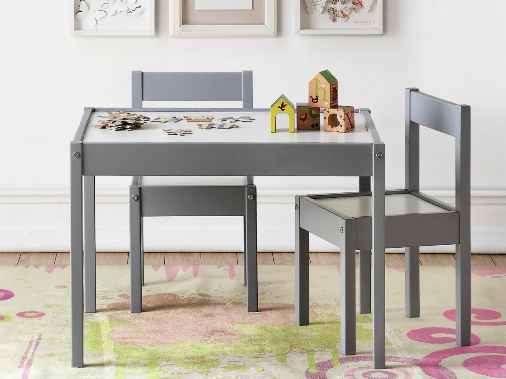 Baby Relax Hunter 3-Piece Kiddy Table & Chair Kids Set in kids room