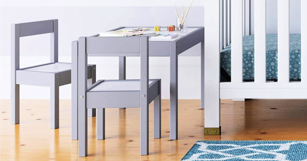 3-Piece Kid dry erase Table & Chair Kids Set