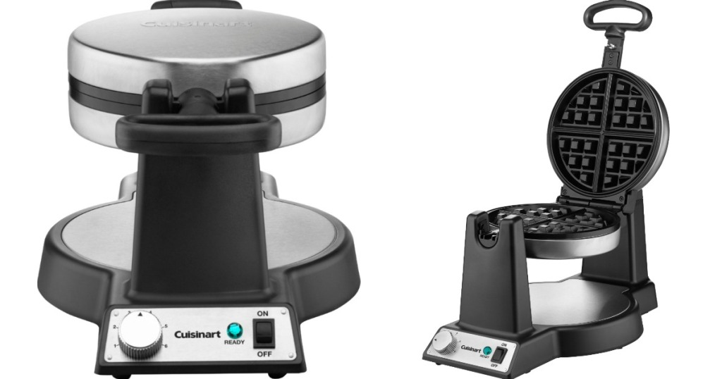 front and side view of a Belgian Waffle Maker