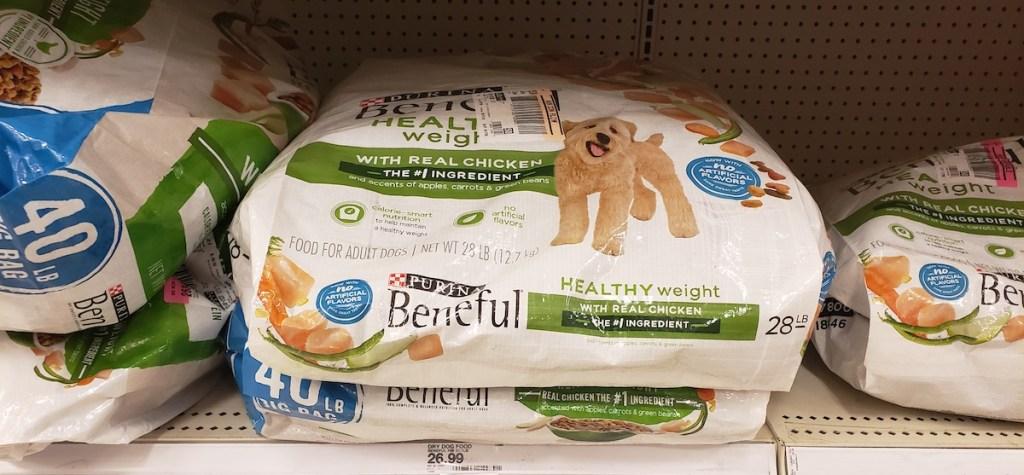 dog food on shelf at Target