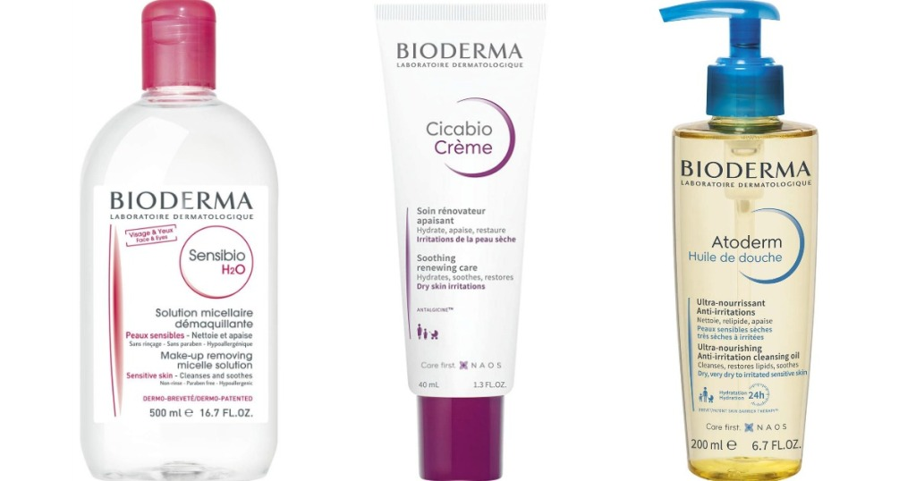 three Bioderma beauty products