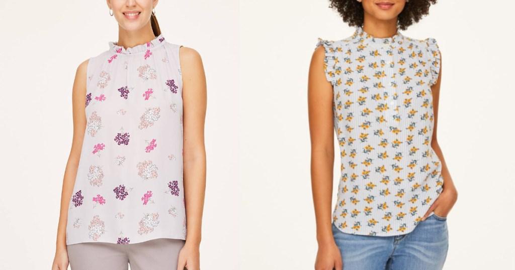 LOFT womens blouses on two women
