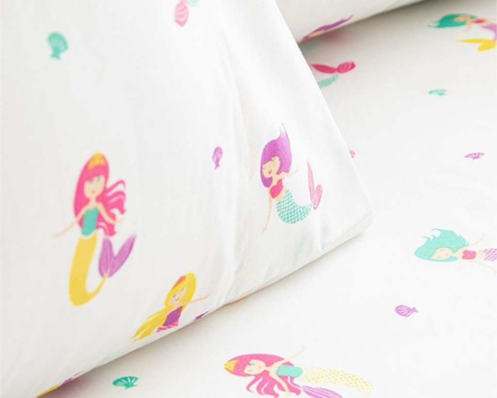 mermaid kids sheets on zulily