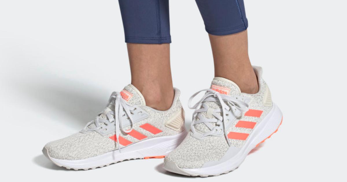 adidas womens duramo shoes on feet