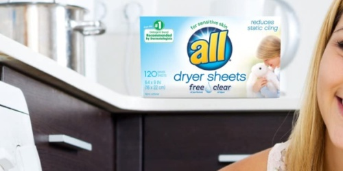 All Free & Clear Dryer Sheets 120-Count Only $3.77 Shipped on Amazon