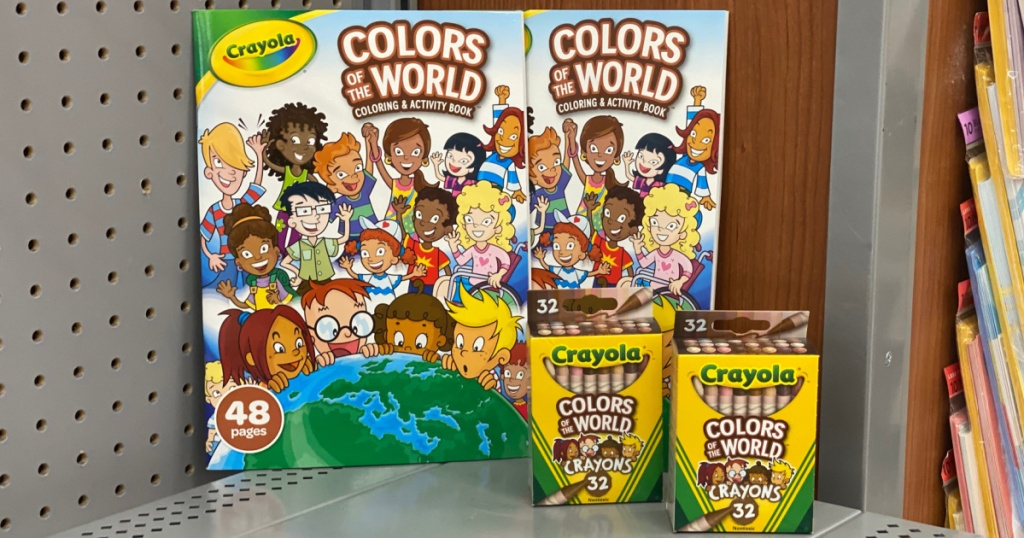 colors of the world at target coloring book and crayons