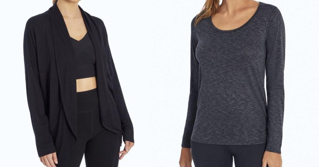 marika activewear cardigan and top