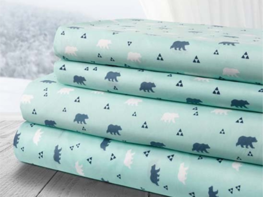 aqua bear sheet sets on zulily