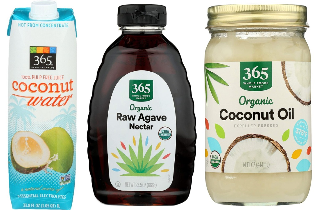everyday value amazon pantry items coconut oil and water