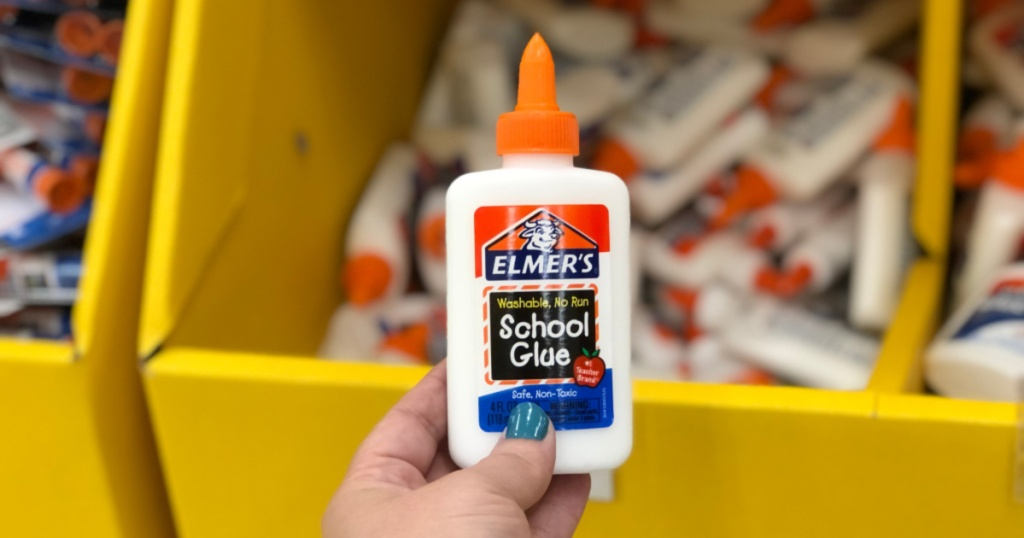 elmers glue in hand at store