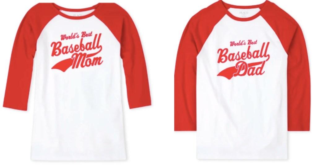 matching baseball tees men and women