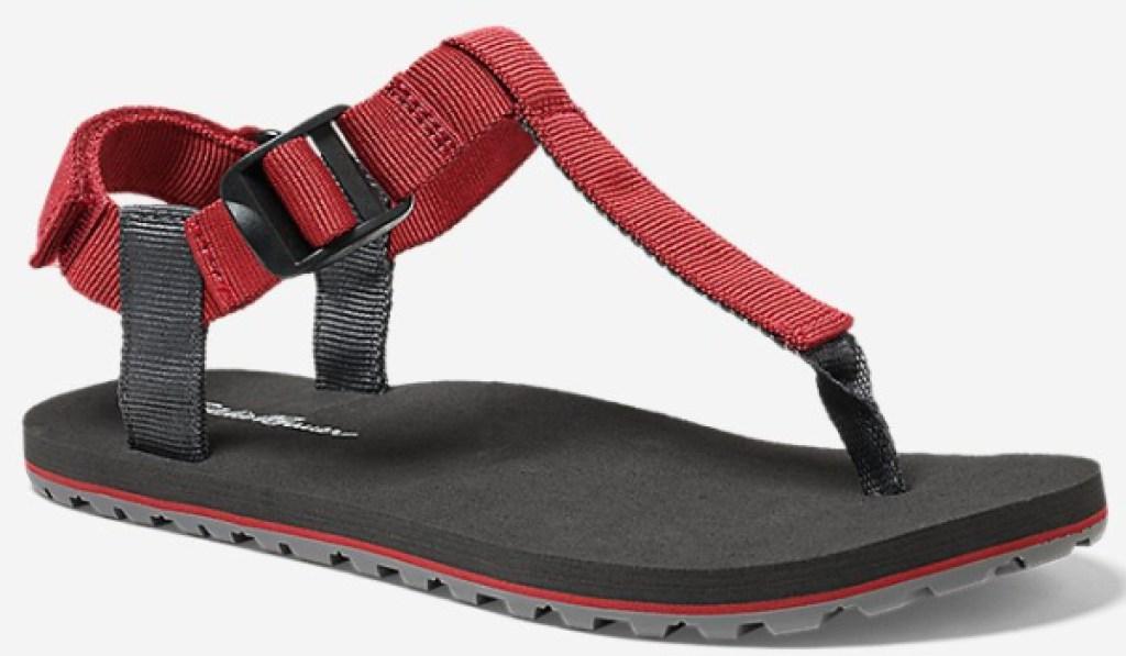 eddie bauer no flop sandal red