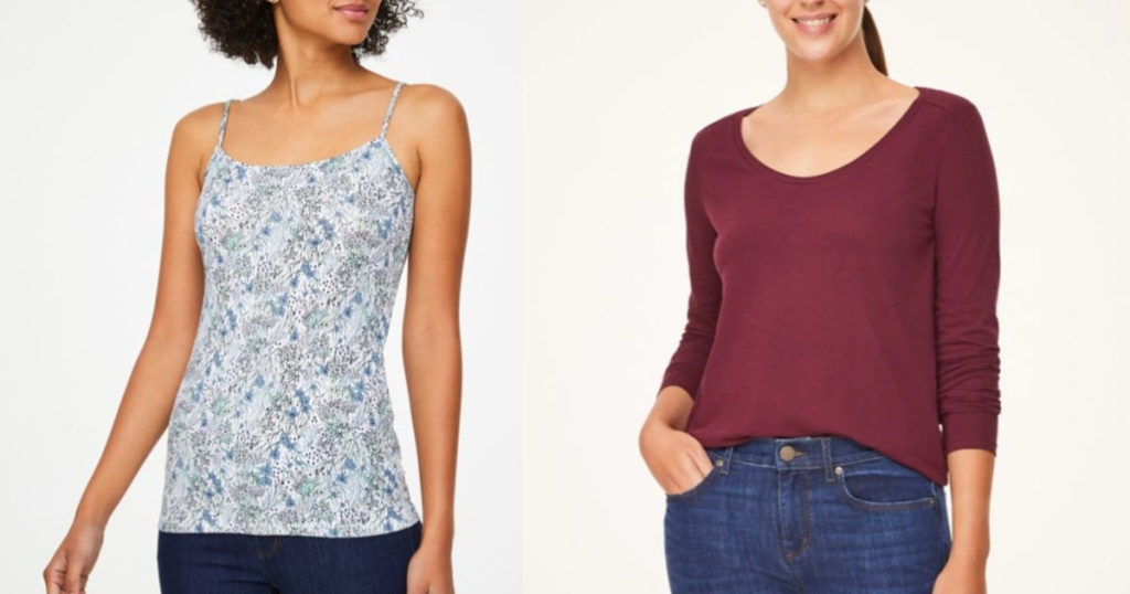LOFT women's tees and camis one two women
