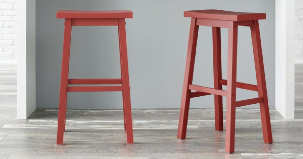 stylewell backless barstool set of 2 at counter