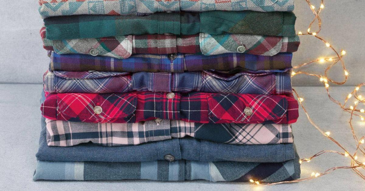 eddie bauer flannels stacked