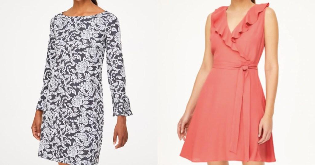 LOFT dresses on two women