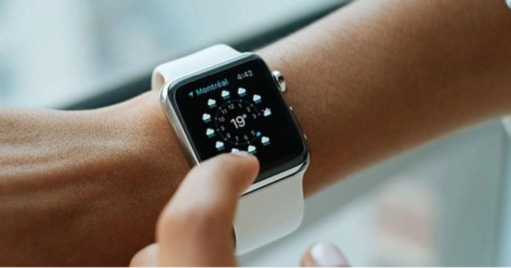 apple watch series 3 white one on wrist