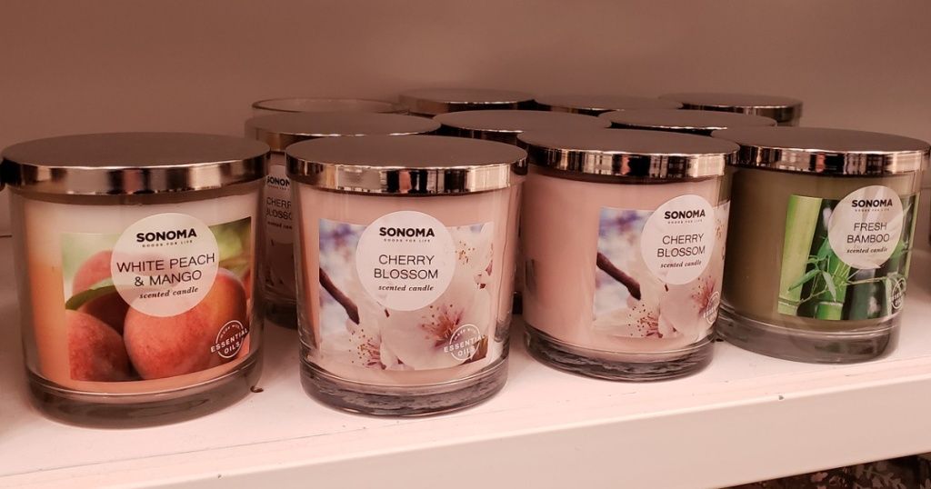 sonoma goods for life candles at kohls store