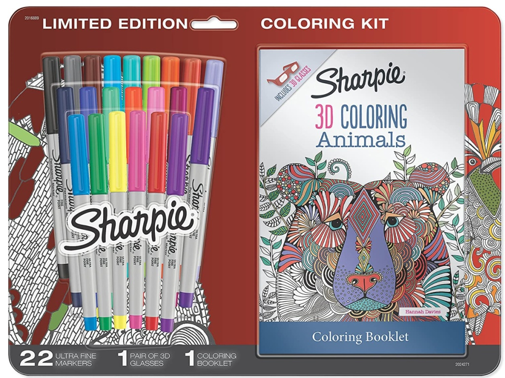 sharpie markers with adult coloring book