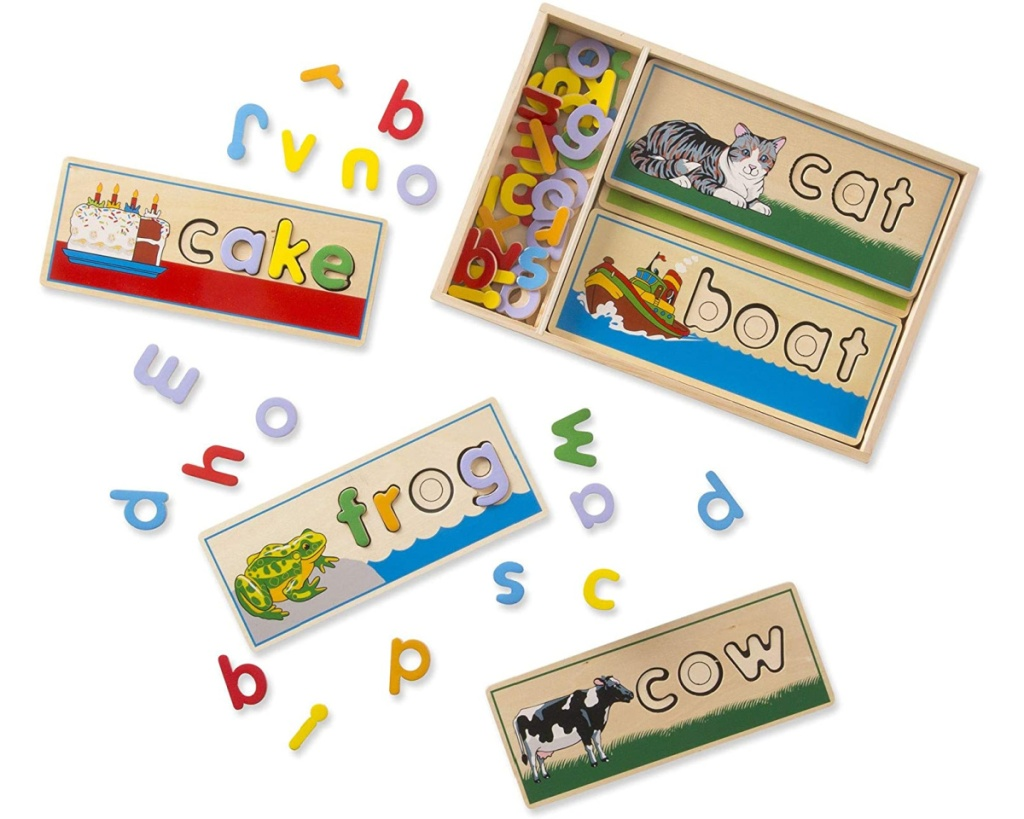 melissa and doug see and spell multi puzzle pieces