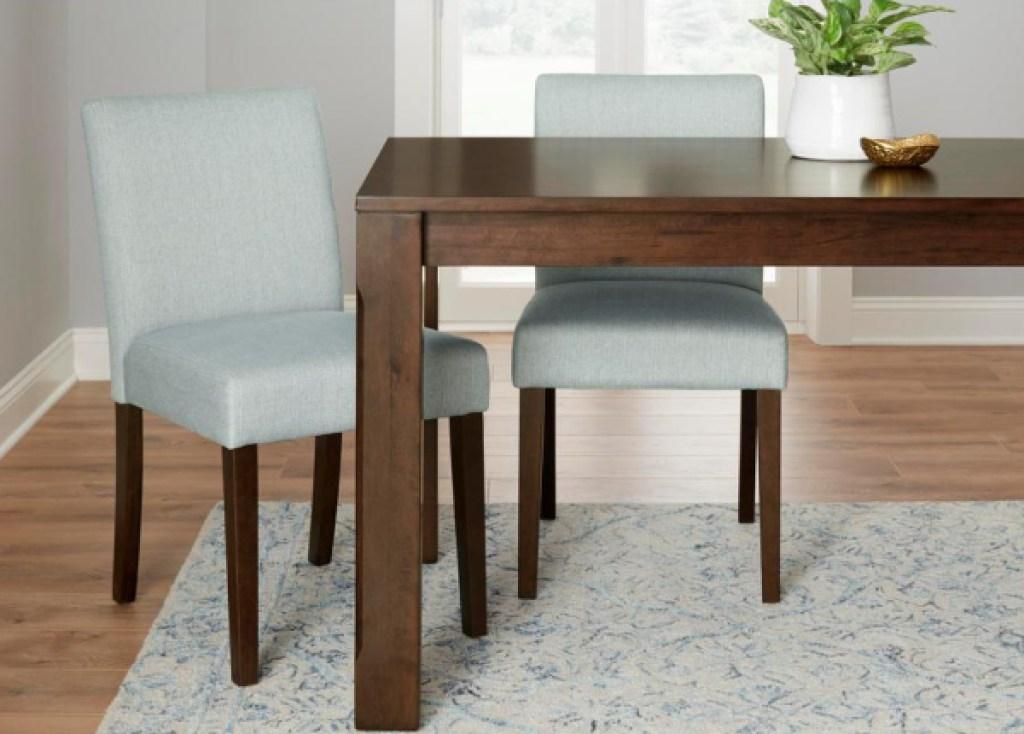 stylewell sanbra upholsetered chairs light blue set of 2
