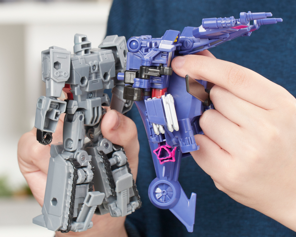 transformers megatron toy with hands playing