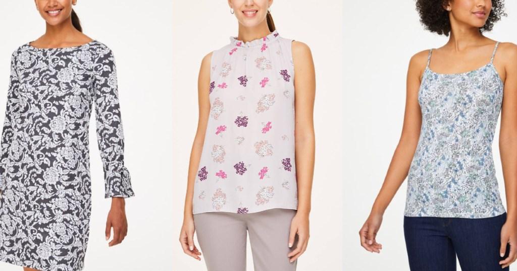 LOFT womens blouses on three women