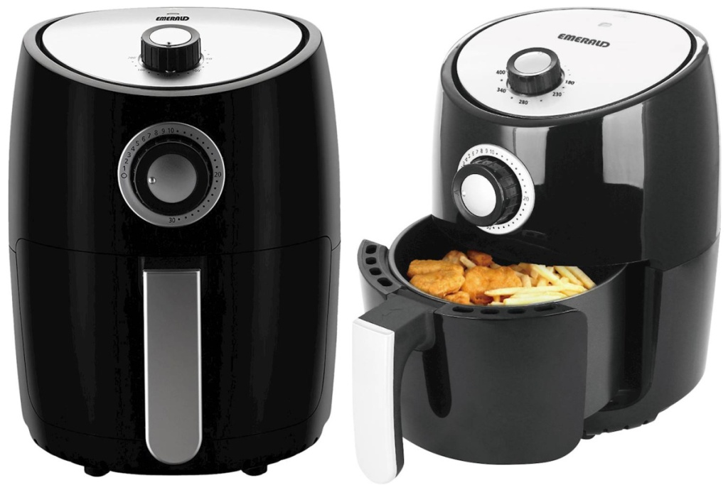 emerald air fryer opened