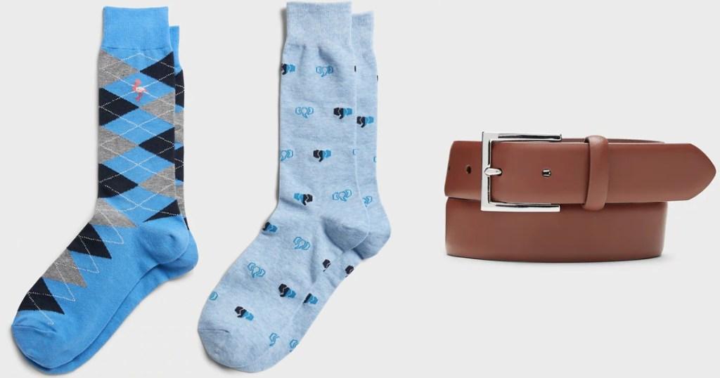 banana republic mens accessories two socks and a belt