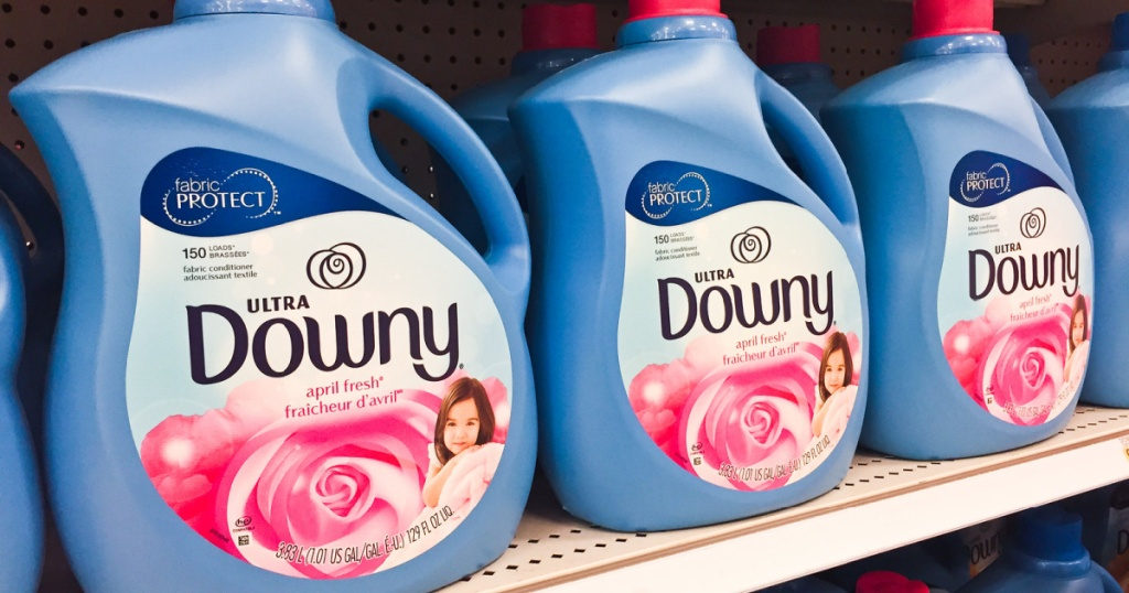 downy fabric softener on shelf at target