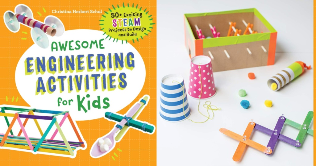 awesome activities for kids STEAM activities front cover and inside page