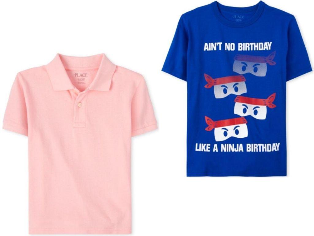 two boy's shirts