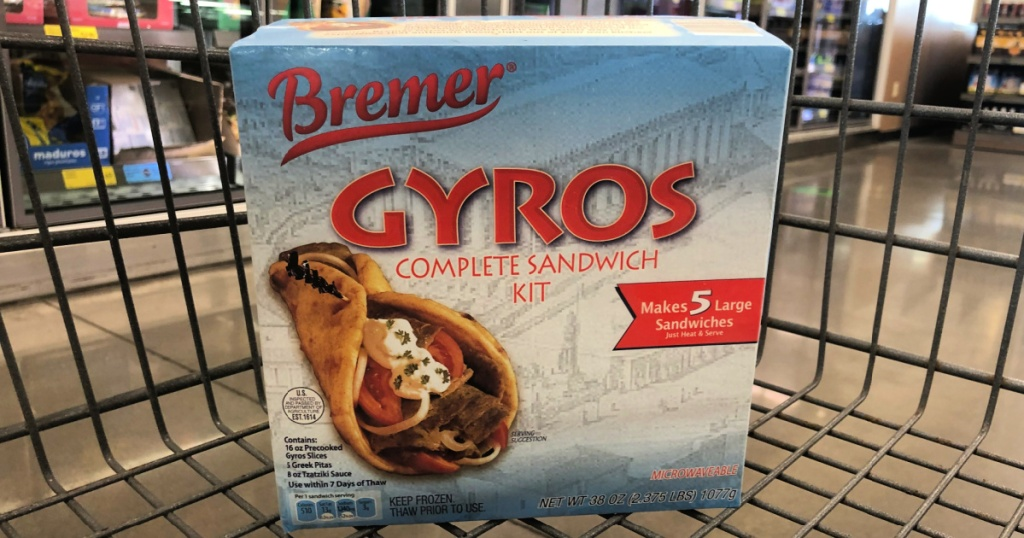 pack of bremer gyros in cart