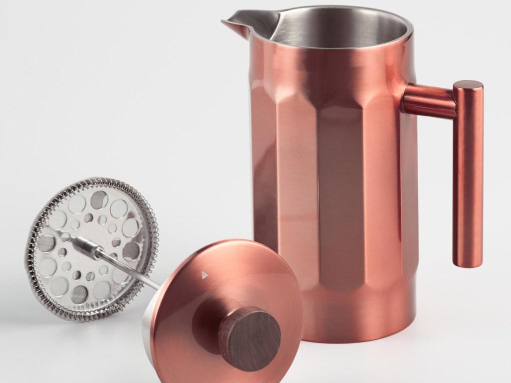 copper french press