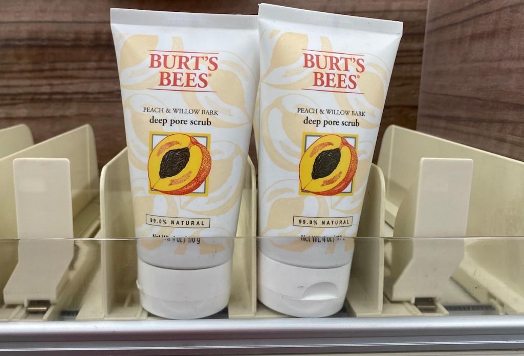 Burt's Bees Scrub on shelf at CVS