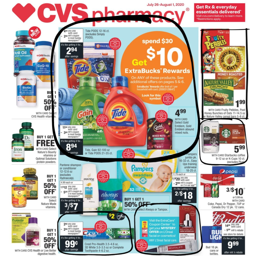 CVS Weekly Ad Scan 7/26-8/1 Page 1