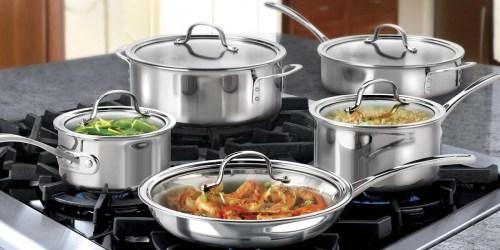 Calphalon 10-Piece Cookware Set Just $120.99 on Woot.com (Regularly $200)