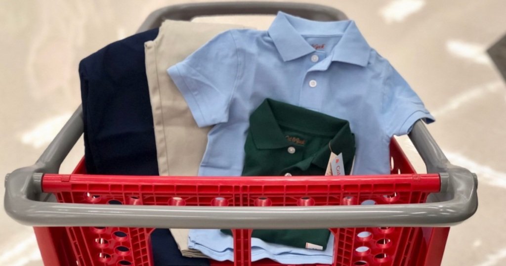 cat & jack uniforms in cart