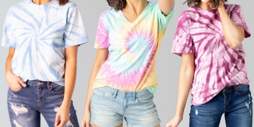 Women's Tie-Dye T-Shirts & Leggings Just $14.97 Shipped (Regularly $25)