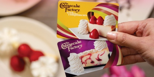 FREE $15 The Cheesecake Factory Bonus Card w/ $50 Gift Card Purchase
