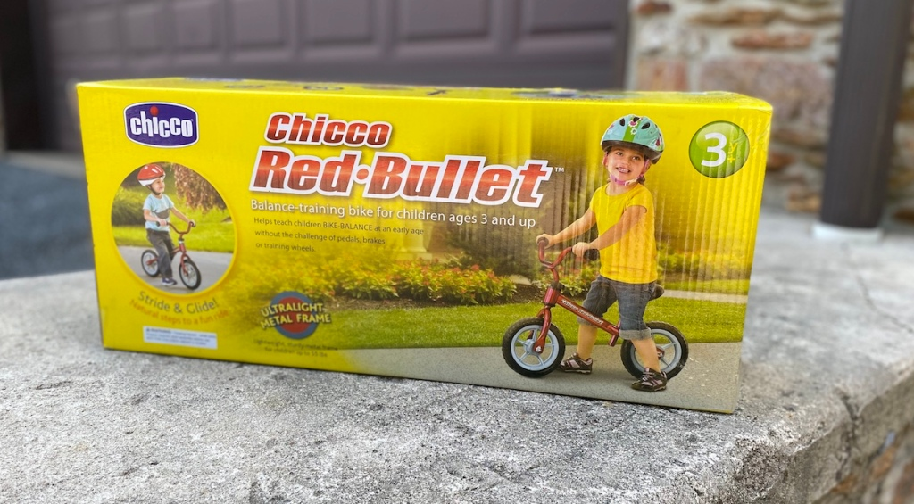 Chicco Red Bullet Balance Bike box