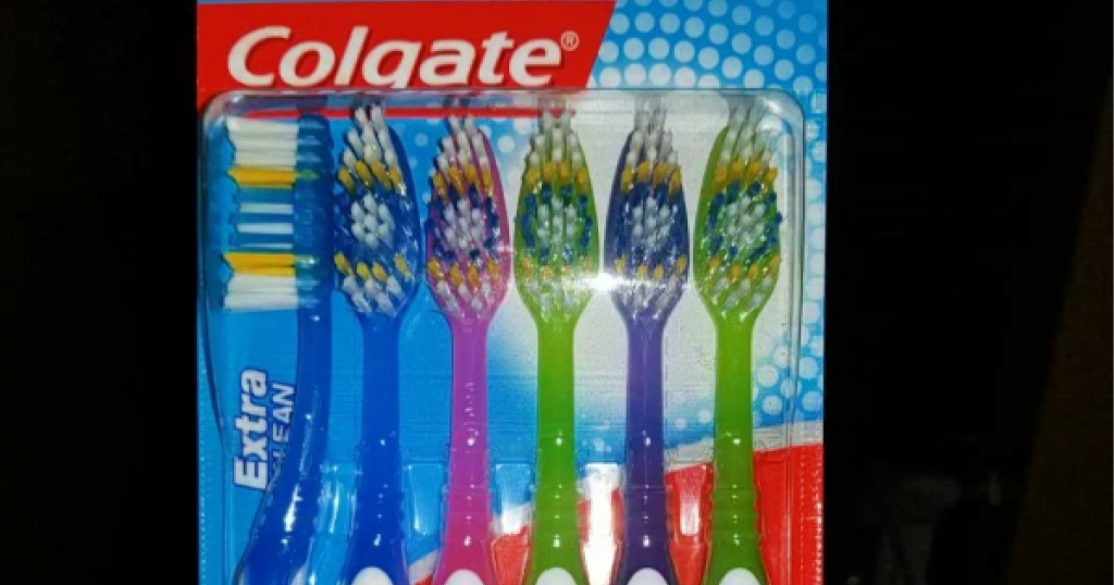 package of colgate toothbrushes